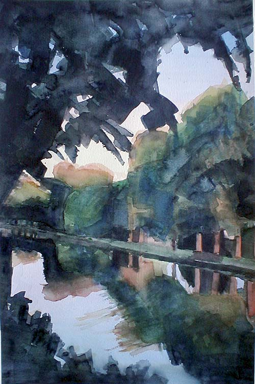 Aquarelle Canal du Midi