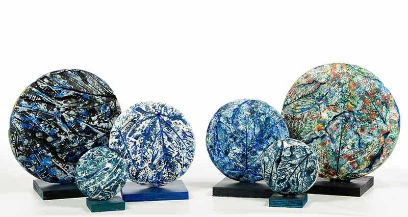 Techniques mixtes acrylique sur plâtre vernis