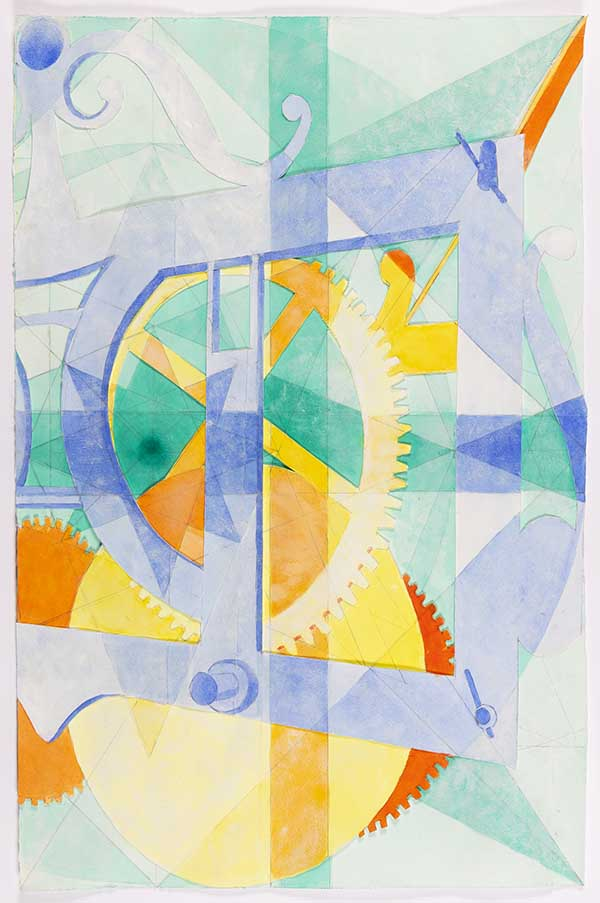 Aquarelle et collage