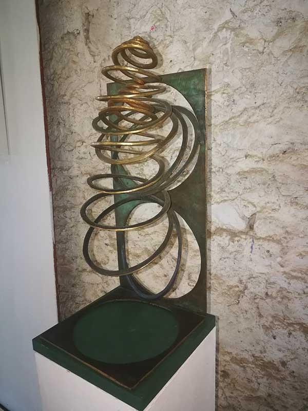 sculpture bronze patiné
