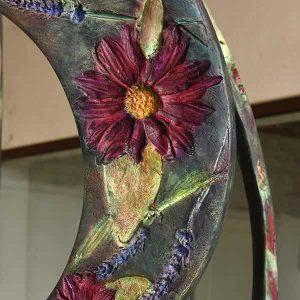 Empreinte sculpture bronze patinée