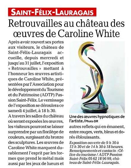 Article La Dépêche du Midi expo Retrouvailles
